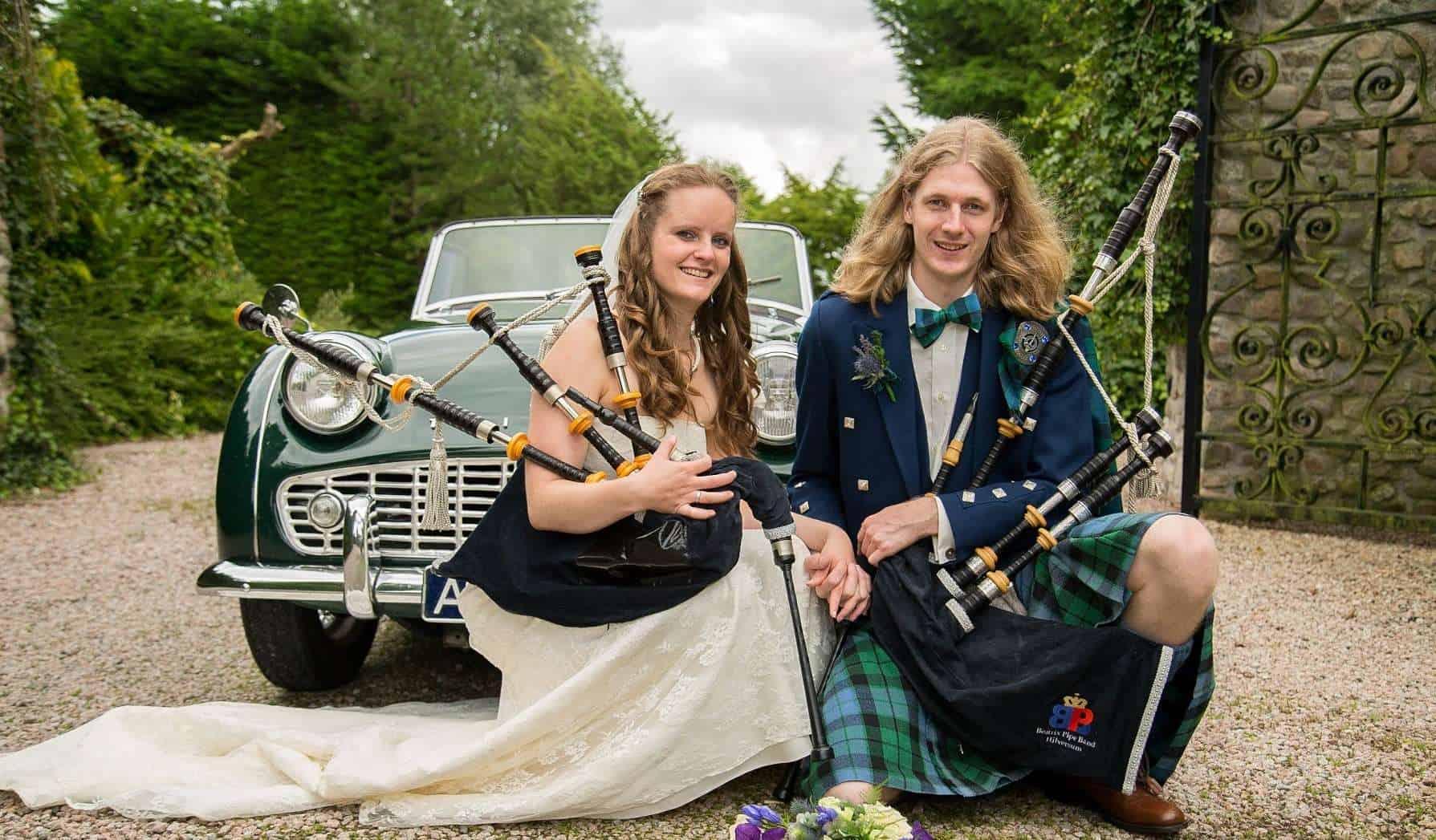 Bruiloft doedelzakspeler inhuren